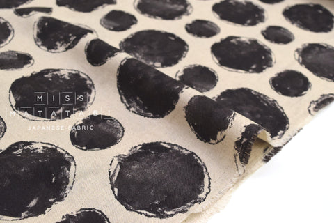 Japanese Fabric Large Painted Dots - A - 50cm