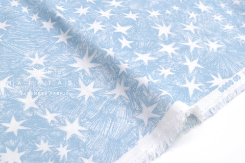 Japanese Fabric Starry Night double gauze - blue - 50cm