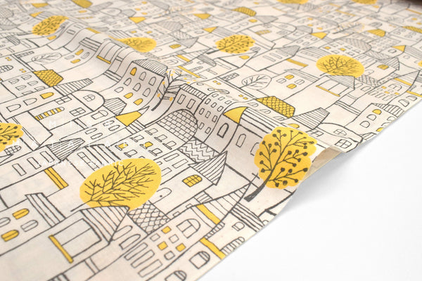 Japanese Fabric Little City - A - 50cm