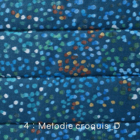 Nani Iro Kokka Japanese Fabric Melodie Croquis quilted double gauze - D - 50cm