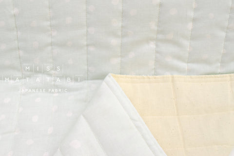 Japanese Fabric Nani Iro Pocho Quilted Double Gauze - Water D - 50cm