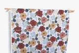 Japanese Fabric Bold Floral - grey - 50cm