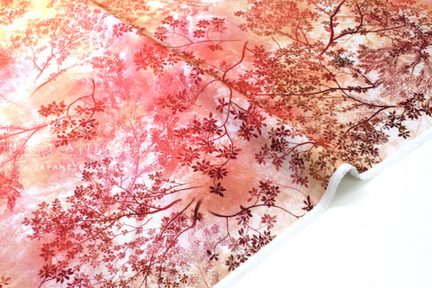 Japanese Fabric Ombre Foliage - 50cm