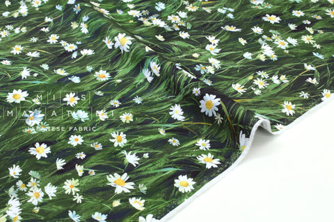 Japanese Fabric Field of Daisies - 50cm