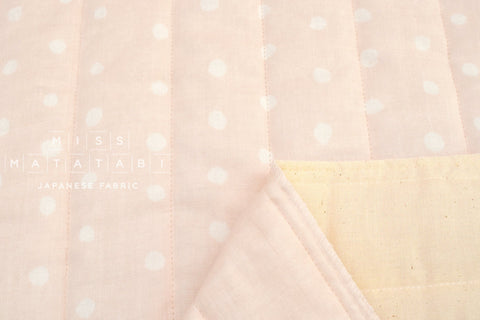 Japanese Fabric Nani Iro Pocho Quilted Double Gauze - Mimosa A - 50cm