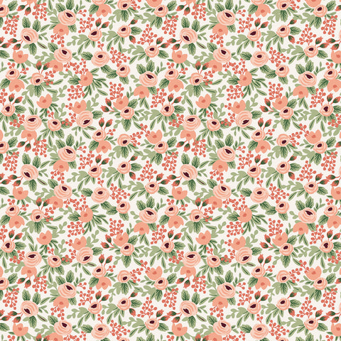 Cotton + Steel Rifle Paper Co. Garden Party - Rosa rose metallic gold - fat quarter