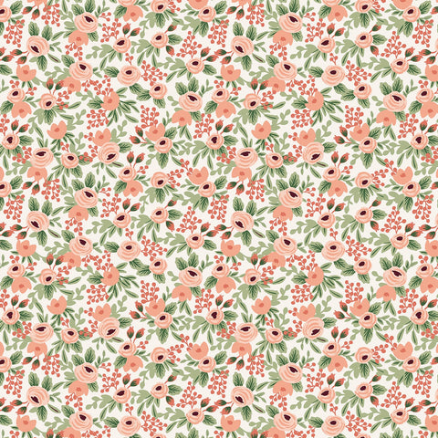 Cotton + Steel Rifle Paper Co. Garden Party - Rosa rose metallic gold - 50cm