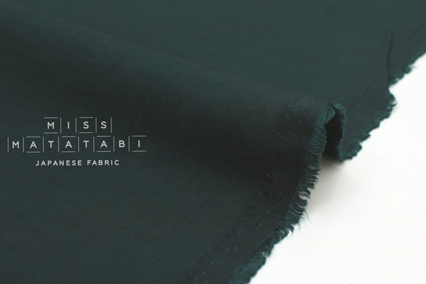 Japanese Fabric Rayon Twill - forest green - 50cm
