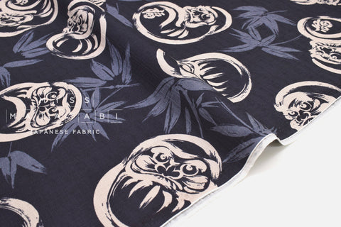 Japanese Fabric Bamboo and Daruma Dobby - D - 50cm