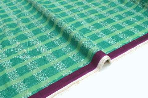 Japanese Fabric Kokka Echino Field double gauze - D - 50cm