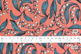 Japanese Fabric Bluebell - coral pink - 50cm