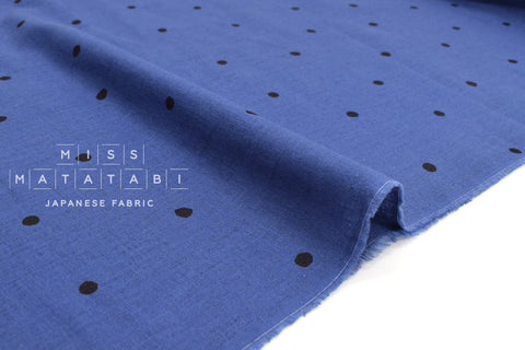 Japanese Fabric Polka Dot Linen Blend - E - 50cm