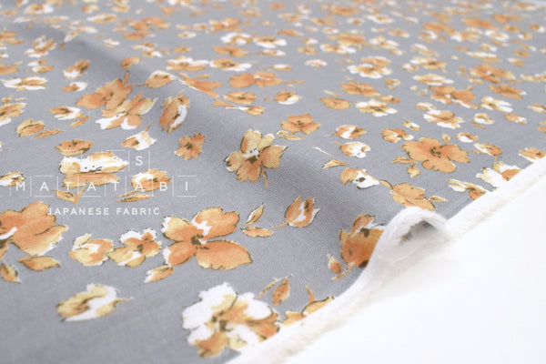Japanese Fabric Garden Double Gauze - grey - 50cm