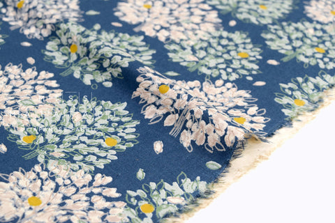 Japanese Fabric Orchard Trees - blue - 50cm