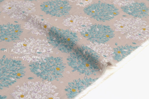 Japanese Fabric Orchard Trees - greige, lilac - 50cm