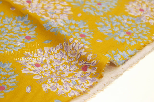 Japanese Fabric Orchard Trees - mustard - 50cm