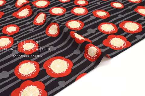 Japanese Fabric Big Bold Ume Blossoms Dobby - E - 50cm