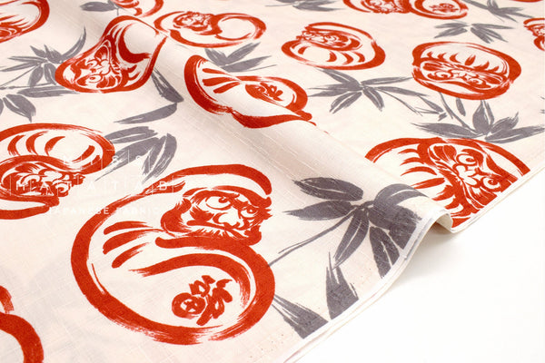 Japanese Fabric Bamboo and Daruma Dobby - B - 50cm