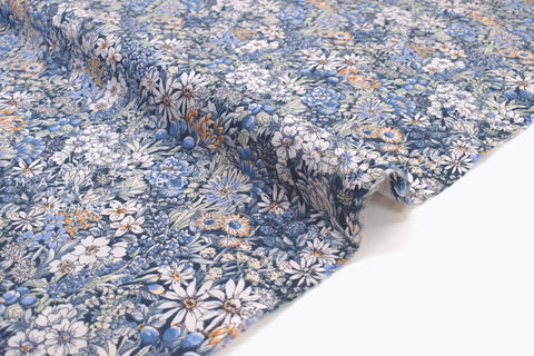 Japanese Fabric Wonder Forest Lawn - blues - 50cm