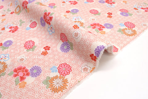 Japanese fabric Spring Blossoms - A - 50cm