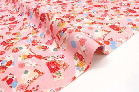 Japanese Fabric Wagara Ribbon - pink - 50cm