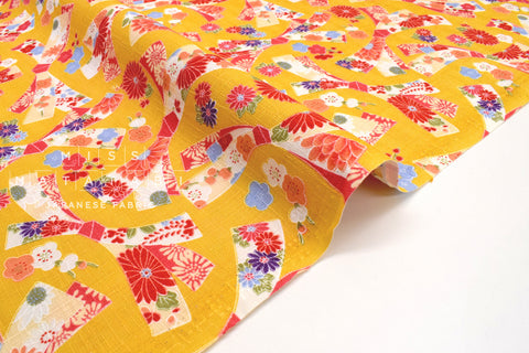 Japanese Fabric Wagara Ribbon -  mustard yellow - 50cm
