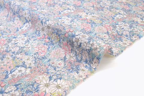 Japanese Fabric Wonder Forest Lawn - pastel - 50cm