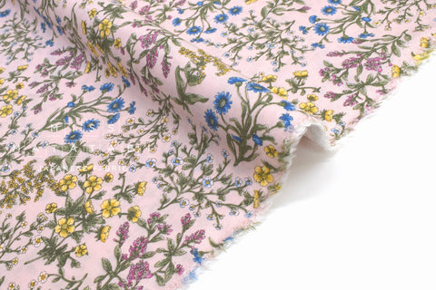 Japanese Fabric Dainty Floral Lawn - pink - 50cm