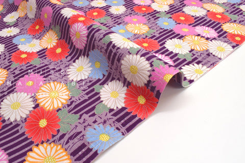 Japanese Fabric Chrysanthemum Dobby -  C - 50cm