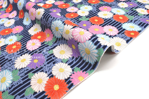 Japanese Fabric Chrysanthemum Dobby - D - 50cm