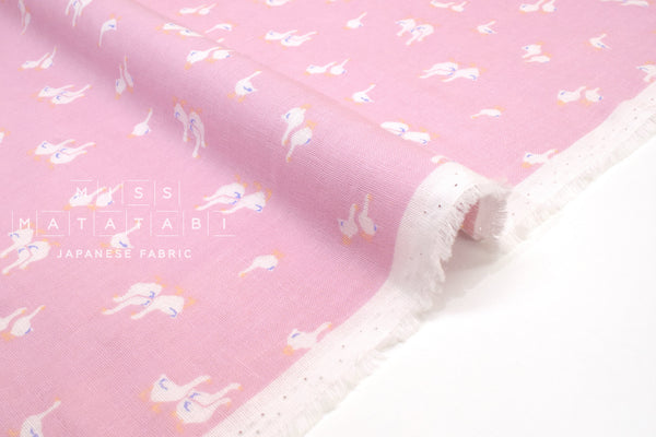 Japanese Fabric Geese Double Gauze - D - 50cm