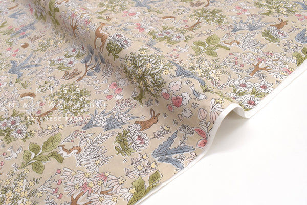 Japanese Fabric Little Forest Cotton Lawn - B - 50cm
