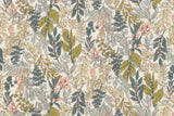 Japanese Fabric Botanical Cotton Lawn - A - 50cm