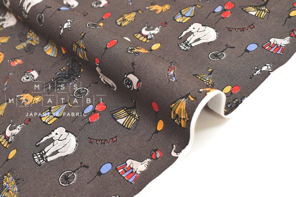 Japanese Fabric Circus Cotton Lawn - D - 50cm