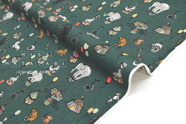Japanese Fabric Circus Cotton Lawn - C - 50cm
