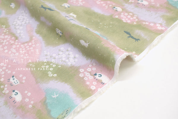 Japanese Fabric Counting Sheep - pink - 50cm