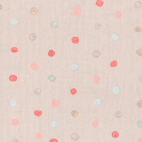 Nani Iro Kokka Japanese Fabric Colorful Pocho - berry field