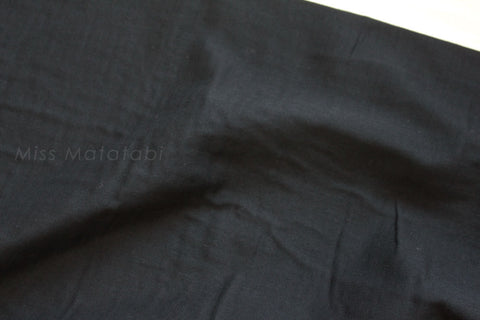 Japanese Fabric - Kobayashi solid double gauze - black