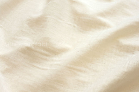 Japanese Fabric - Kobayashi solid double gauze - unbleached cotton - cream