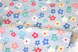 Japanese Fabric - Yuwa Sunday 9am - grey - fat quarter