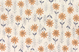Japanese Kei Fabric Daisies - latte brown - fat quarter