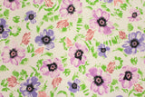 Japanese Fabric - watercolour floral canvas - B -  fat quarter