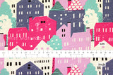 Japanese Fabric - City Houses - C