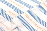 Suzuko Koseki french ribbon text - blue - fat quarter