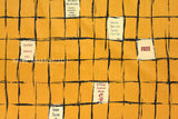 Suzuko Koseki lattice - mustard yellow - fat quarter