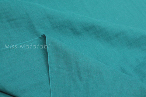 Japanese Fabric - Kobayashi solid double gauze - teal green
