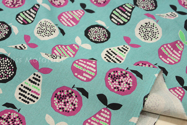 Japanese Fabric - Fruit - peach, blue - fat quarter