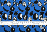 Fruit Punch twill - blue - fat quarter