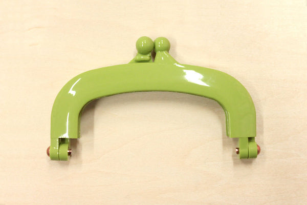 Japanese Purse Frame - gamaguchi - plastic frame - small - green