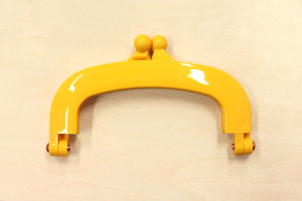 Japanese Purse Frame - gamaguchi - plastic frame - small - yellow